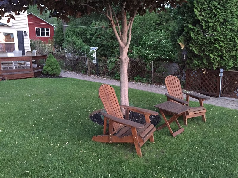 Outdoor Seating Area - Adirondack Chairs