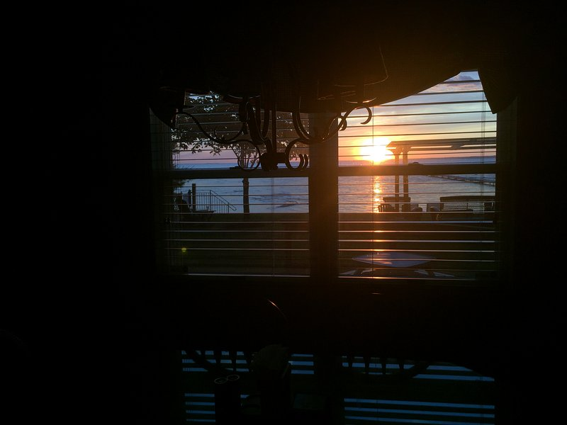 Sunset View from Kitchen Table