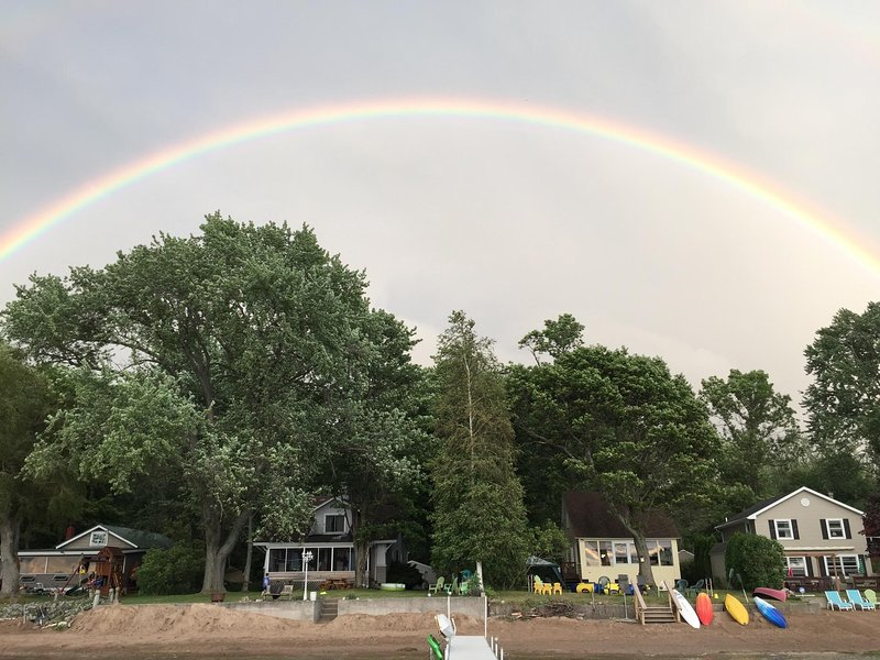Full Rainbows are Common from the Water Overlooking the House (on far right)