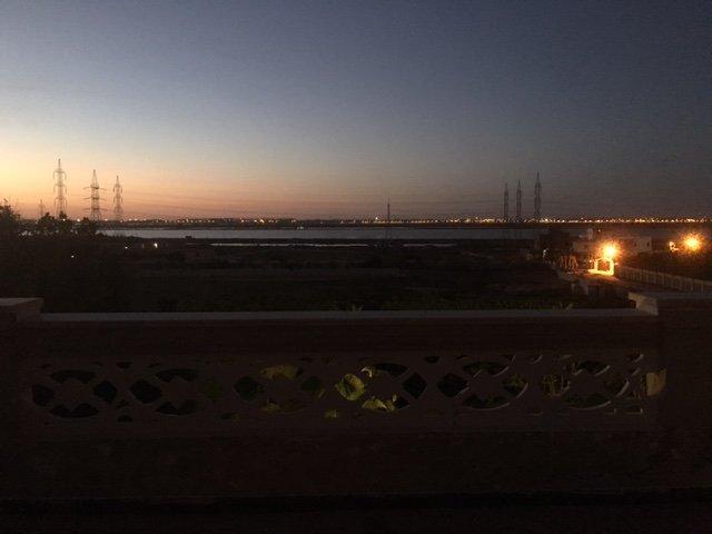 The Lake View At Night