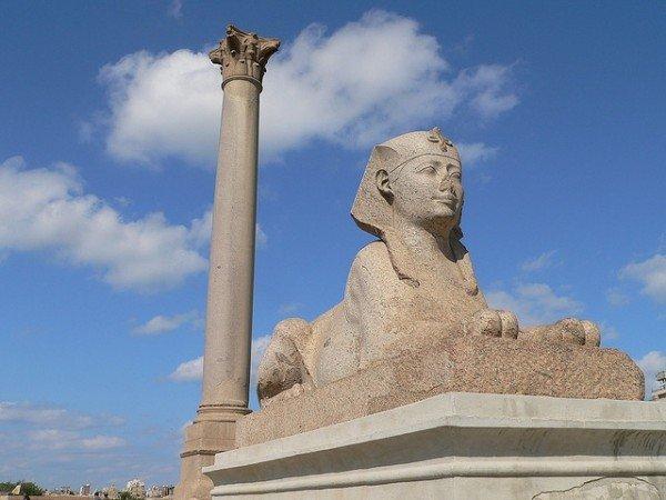 The Pompeys Pillar And Sphinx
