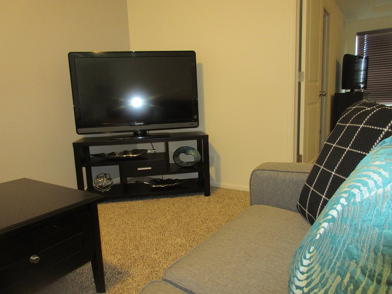 Two TVs - one in bedroom and one in the recreation room