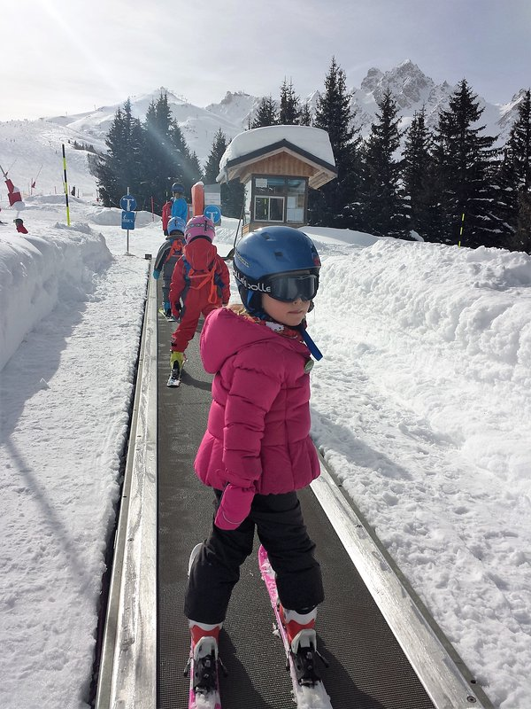 magic carpet for beginners Beginner area in Courchevel