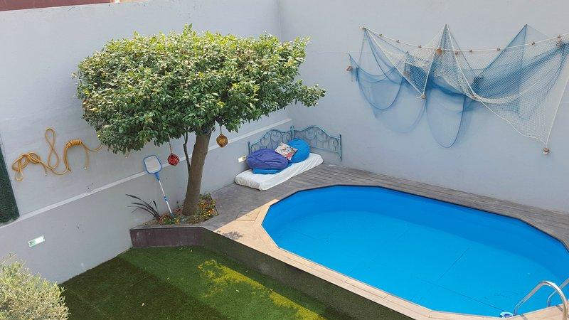 piscina vista do terraço