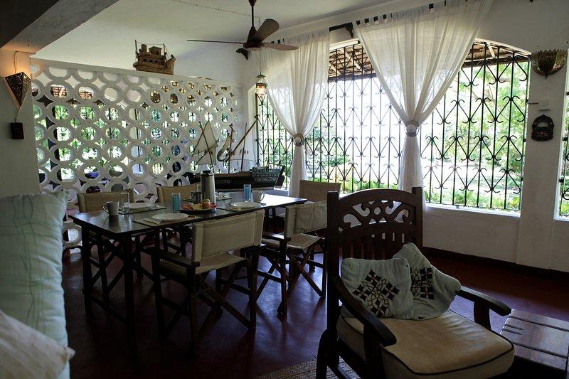 sala de jantar na casa