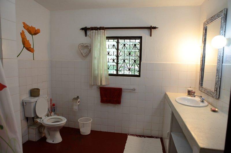Bagno in camera da letto bagno di famiglia. Tutti sono lo stile e dimensioni simili.