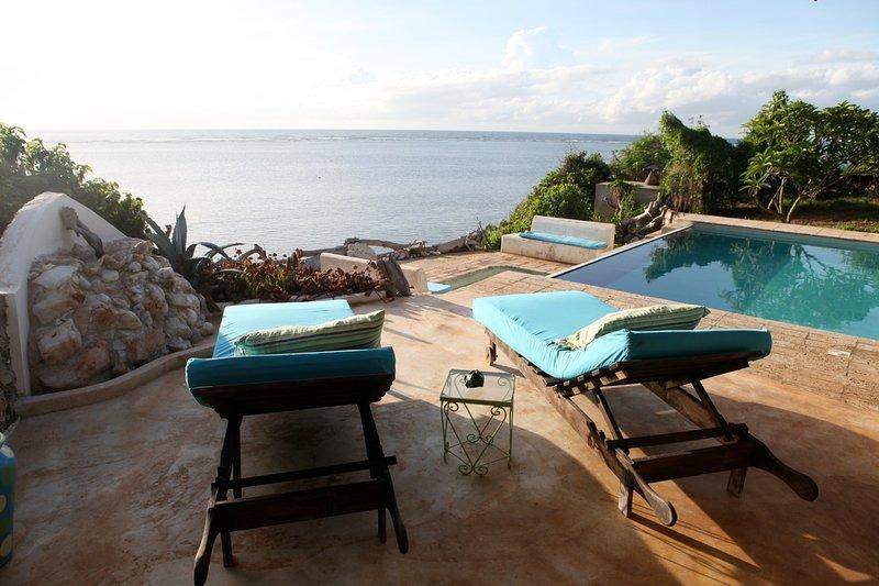 terrazza solarium con giochi d'acqua