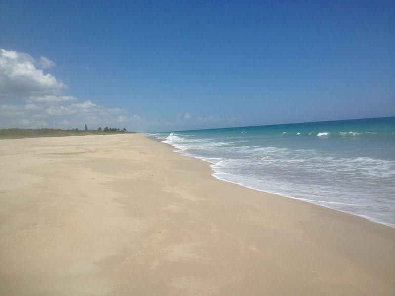 Beach is short drive away