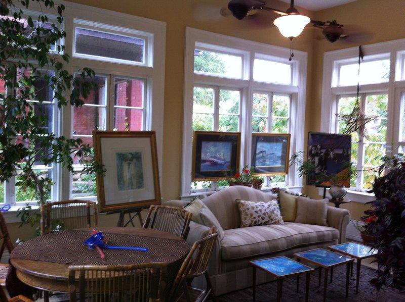 conservatory or garden room off first floor living room