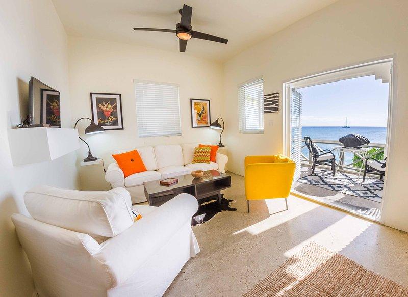 Zuid-suite met uitzicht op de Caribische zee.