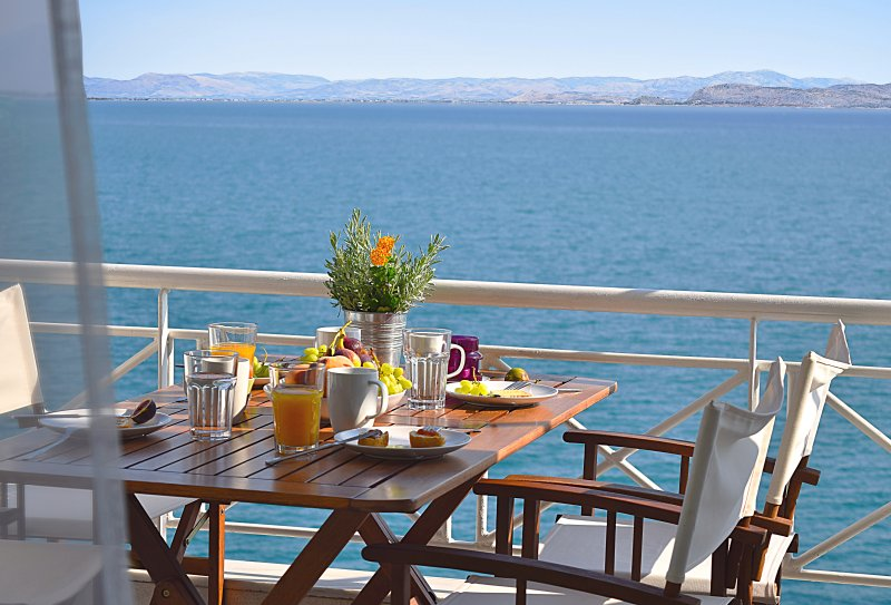 View from Balcony - Vacation beach  Apartments- Kiveri viallage close to Nafplion