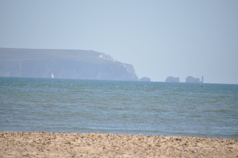 Die Isle of Wight, und die Nadeln mit einem Zoom-Objektiv an einem guten Tag!
