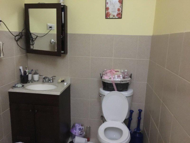 bathroom setting for all three bathrooms