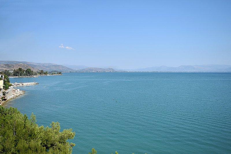 Meerblick von Balkon- Holiday Beach Apartment in Kiveri Dorf in der Nähe von Nafplion