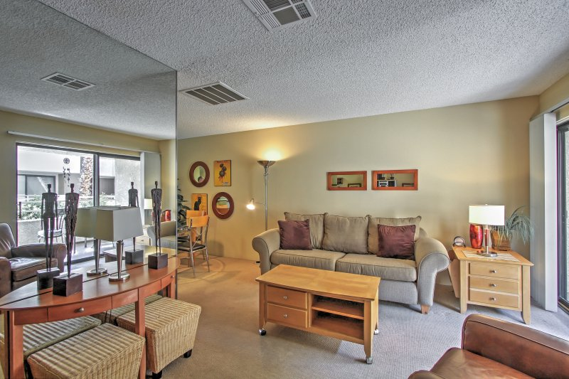 Elevate your Palm Springs vacation with this bright vacation rental condo.