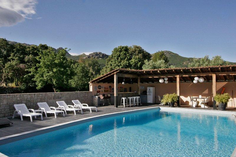 T3 CLEMENTINU dans villa corse, location de vacances à Haute-Corse
