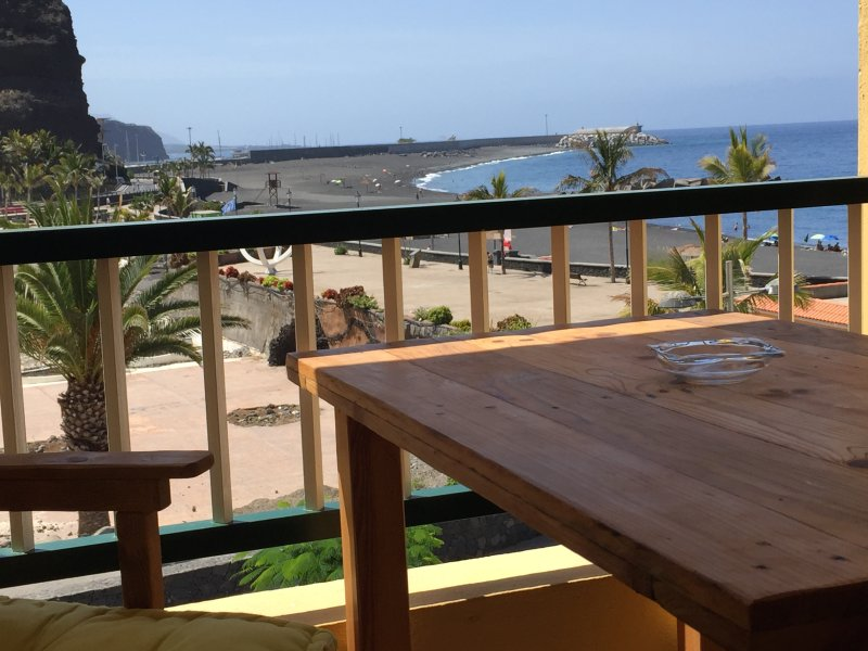 Terrace overlooking the sea and the beach