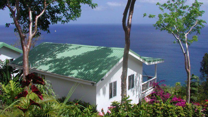 AVOCADO COTTAGE at NATURE'S PARADISE. OCEAN VIEW, TROPICAL GARDENS.