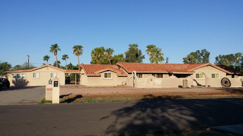 Street view, Main house on right, Casita on left