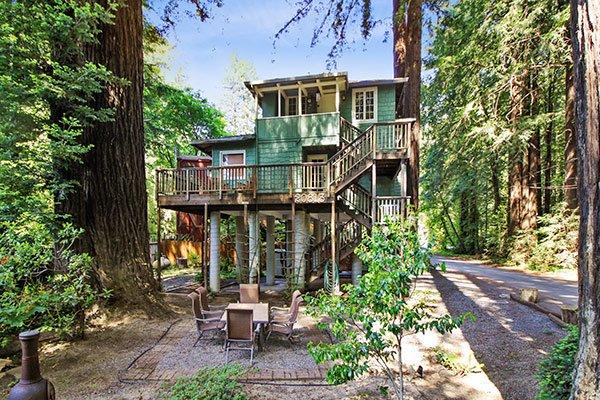 Monte Rio Treehouse, Unique Monte Rio Rental, Near River