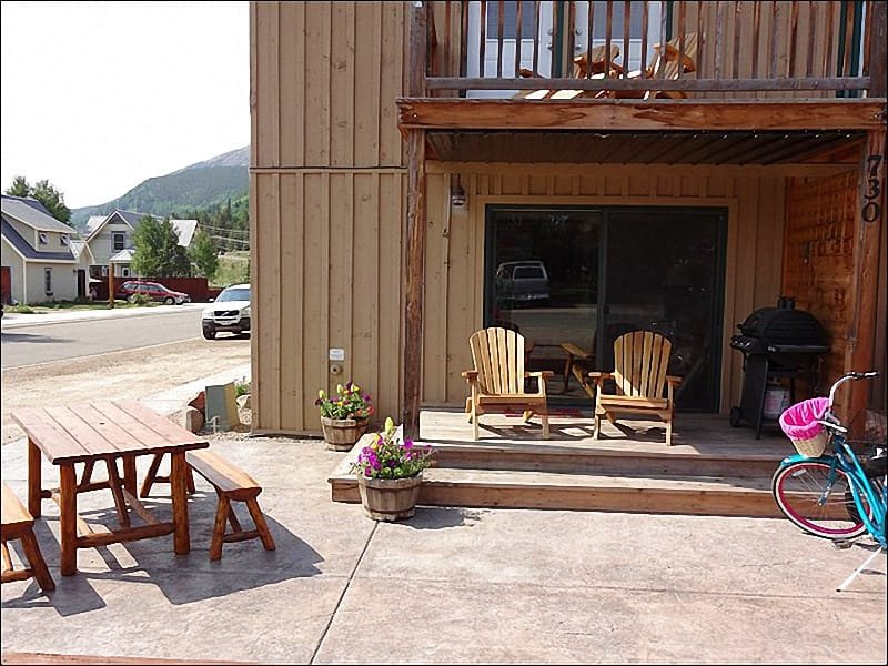 Gemeubileerde patio is perfect voor de zomer Barbecues