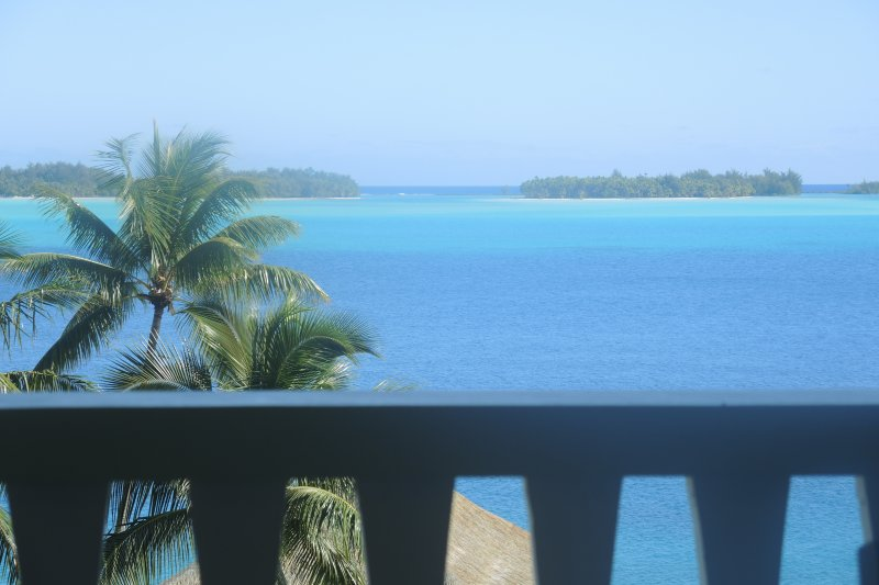 Gorgeous lagoon view from the balcony