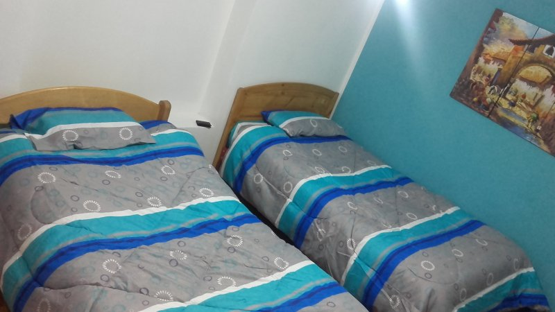 Double room (two beds) with shared bathroom