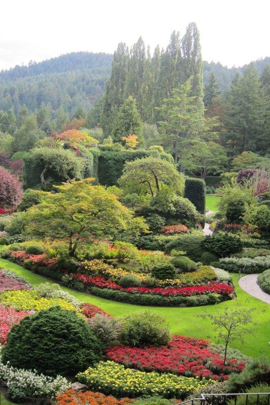 World renown Butchart Gardens, Victoria's most popular attraction.