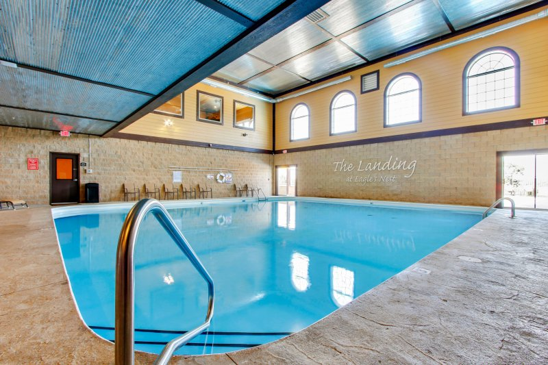 Brand new indoor, heated salt water pool ! Available to limited number of rental units in the area.