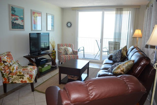 Update furnishings and amazing views from the living area