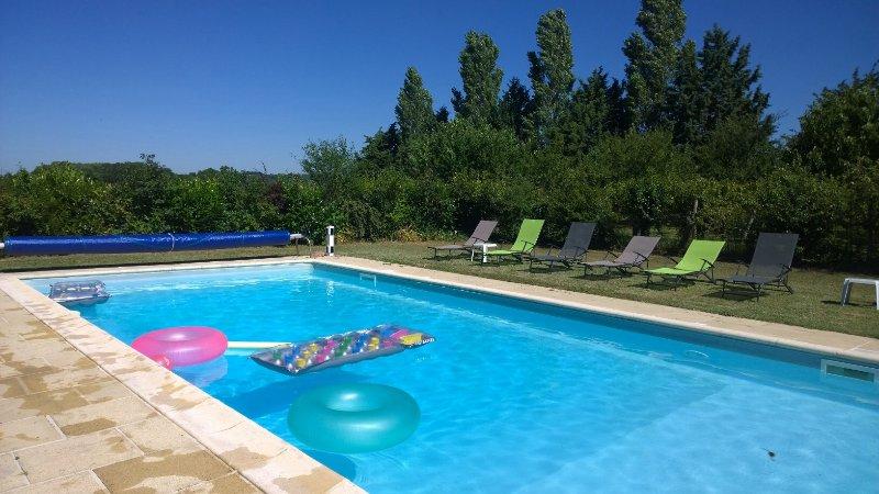 The beautiful 11m x 5m heated swimming pool