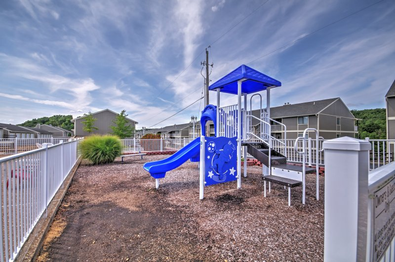 Let the kids release all of their energy while playing on the community playground.