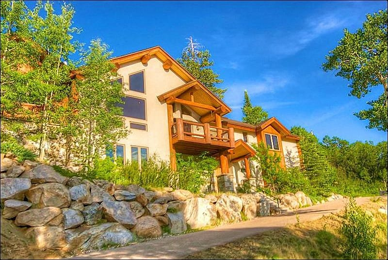 Exterior View of this Large Custom Home