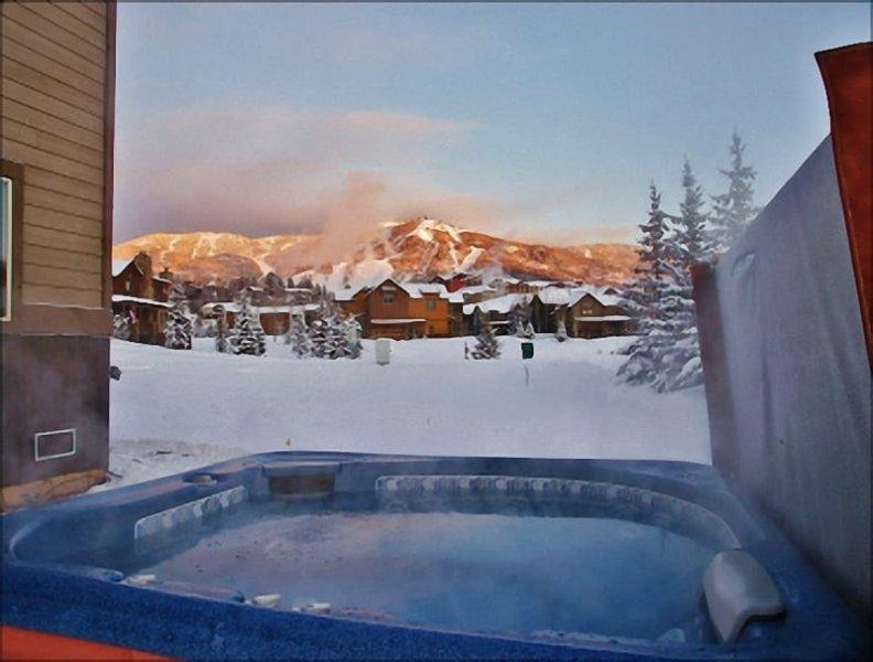 Algumas noites você recebe um bom Alpenglow na área de esqui