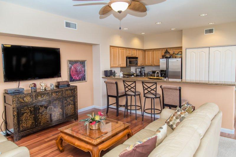Cocina y sala de televisión