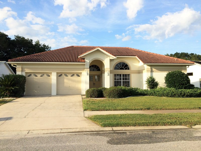Front view of our spacious Florida Villa recently painted throughout and looking splendid!