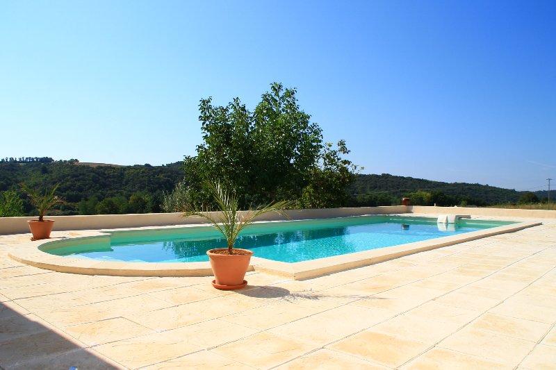 Valensole en Provence Belle Suite avec piscine chauffée, terasse,Spa, jardin..., holiday rental in Valensole