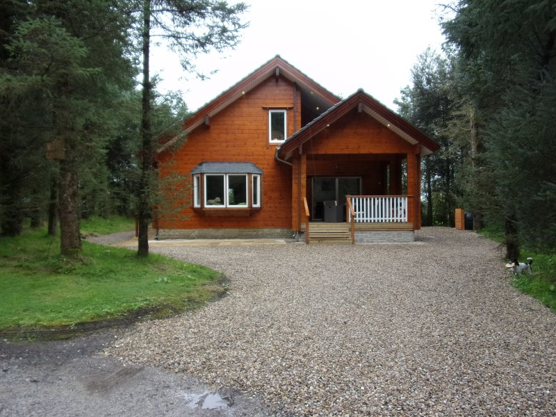 Our cabin is set in a quiet woodland location with wheelchair ramp and parking area,