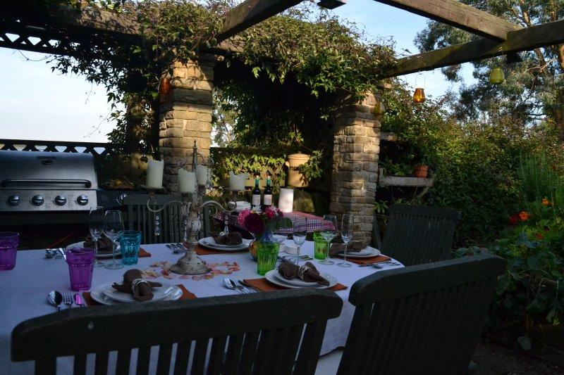 Área para churrasco ao ar livre