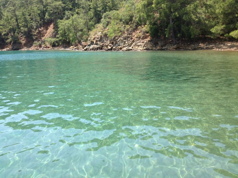 The clear water of Ekincik