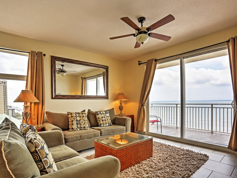 This Panama City Beach vacation rental condo accommodates up to 8 guests.