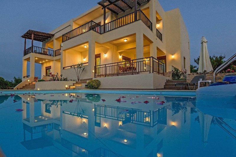 Villa Roussa 1. Live the Cretan nature!, holiday rental in Loutra