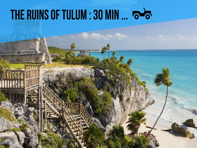 Riviera Maya Haciendas, Quinta Maya - The ruins of Tulum: 30 min by car