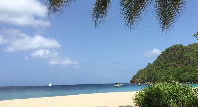 Uma das belas praias da Martinica