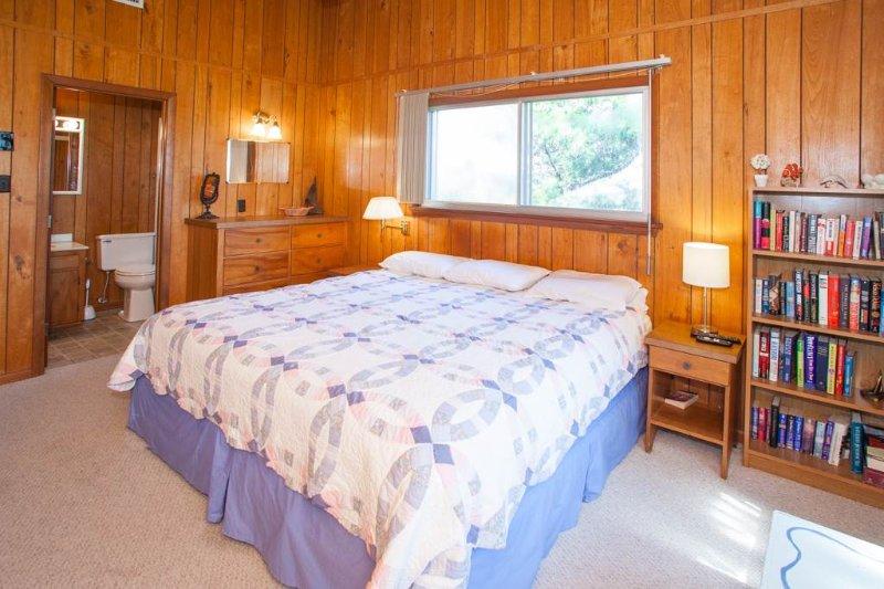 Cama, dormitorio, muebles, biblioteca, estante
