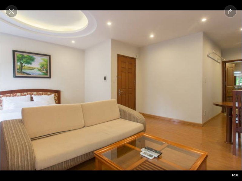 D301 Corner Studio, 5 windows, private balcony - Palmo Serviced Apartment 2, vacation rental in Hanoi