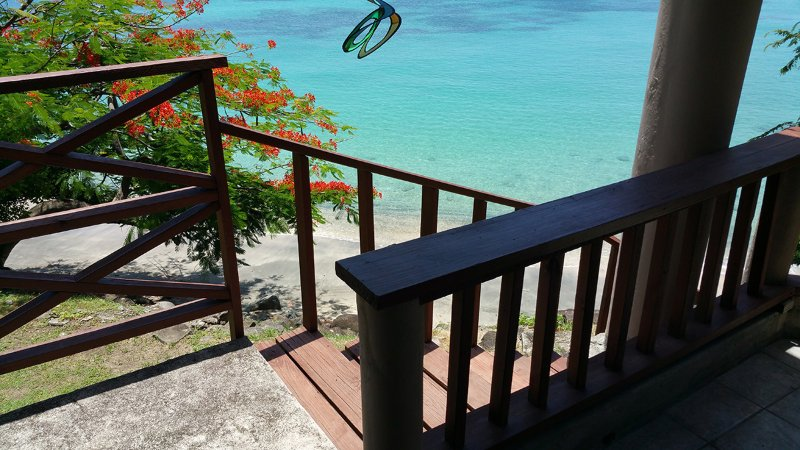 Uitzicht vanaf Flamboyant Verandah