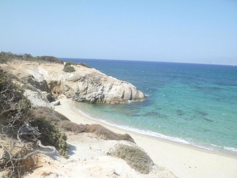 Stunning Alyko beach only a short walk from Oasis Garden.Perfect!