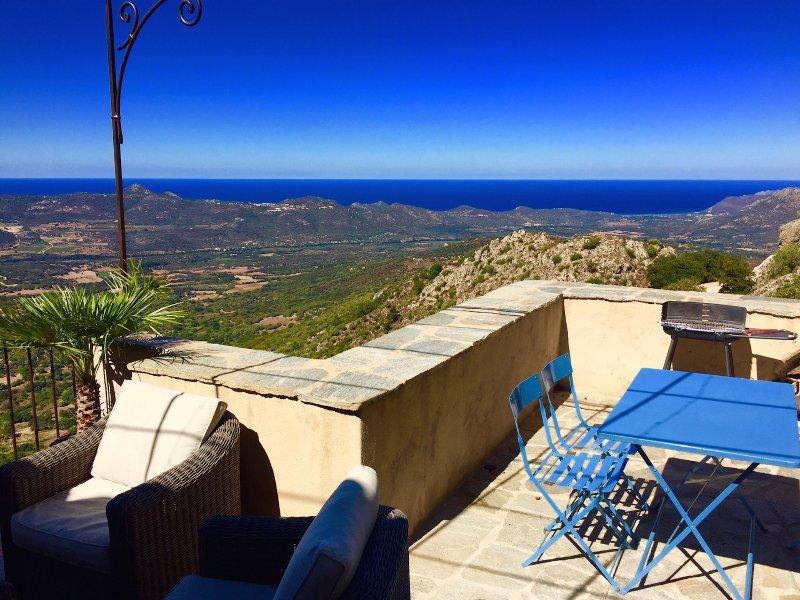 MAISON BALAGNE CORSE VUE MER EXCEPTIONNELLE, vacation rental in Speloncato