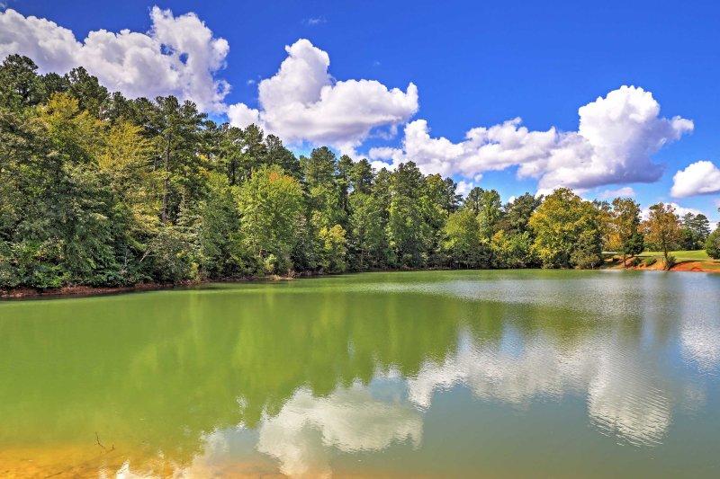 Admire lake views all around the property.